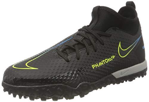 Nike Unisex Jr. Phantom Gt Academy Dynamic Fit Tf Fußballschuhe, Black Black Cyber Light Photo Blue, 38 EU