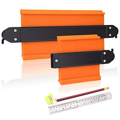 2 Stücke Konturenlehre mit Feststeller, KASZOO® 250mm und 120mm Kunststoff Konturlehre Magic Kontur Werkzeug...