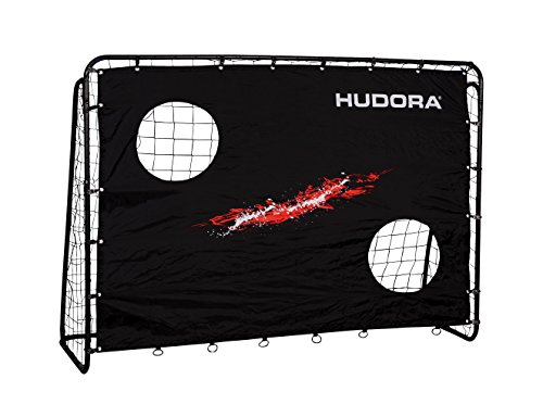 HUDORA Fußballtor Trainer mit Torwand | Kicker-Jubiläums & Standard Edition | Garten Fußball-Tor (213 x 152...