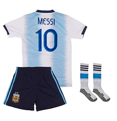 ATB Argentinien 2019/20 Messi # 10 Heim Trikot und Shorts mit Socken Kinder und Jugend Größe (140)