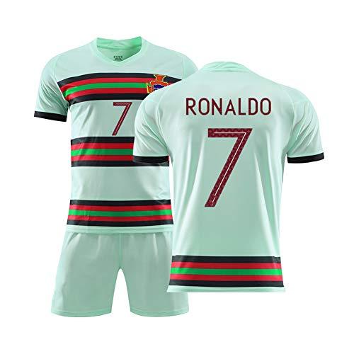 Portugal Trikot Home and Away 2020 EM Nationalmannschaft Nr. 7 Cristiano Ronaldo Fußball Anzug Größe...