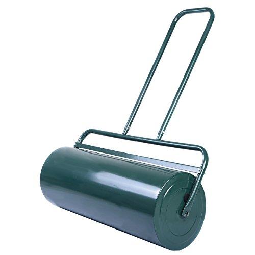 COSTWAY Rasenwalze Handwalze Gartenwalze Schwerlasttrommel, Rasenroller Ideal für Ebenen Rasen (48L /...