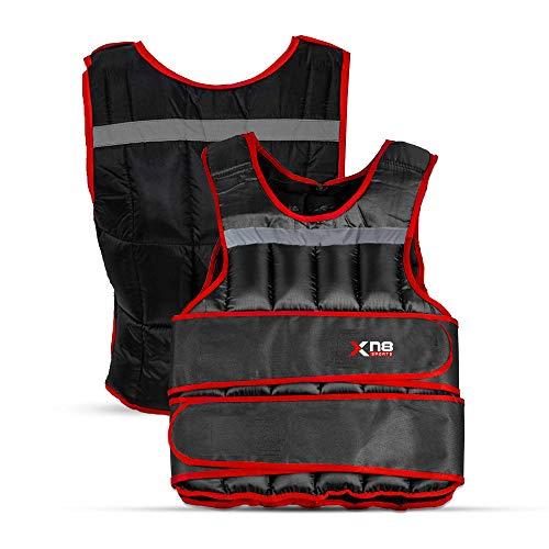 XN8 Verstellbar Gewichtsweste 10kg,15kg,20kg Fitnessweste- Trainingsweste für Krafttraining- Laufen- Fitness-...