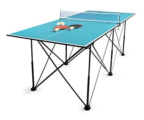 Leomark Tischtennis Klappbare - Blau Tischtennisplatte - Tischtennis tragbar, Netz, Bälle, Schläger, Outdoor...