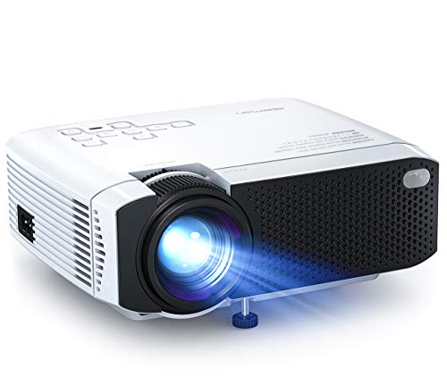 Beamer APEMAN Mini Beamer 4500 Lumen 1080p Full HD Kompatibel Tragbarer Projektor LED 45000 Stunden Heimkino...