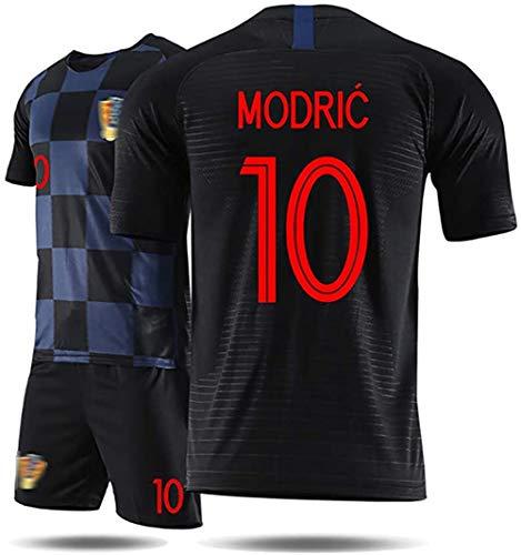 Kinderfußballtrikots WM 2018 Kroatien Modric Trikot, erwachsenes Mädchen Junge T-Shirt und Shorts Team...