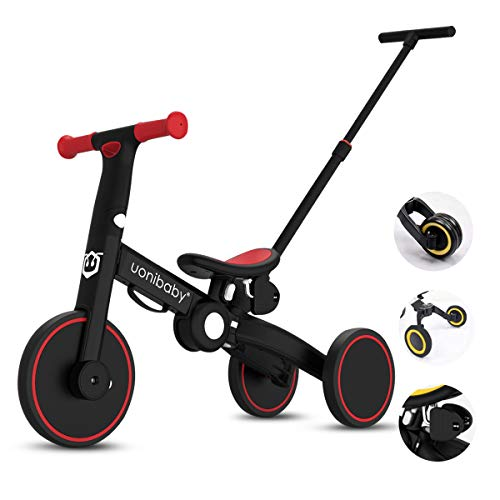 OLYSPM 5 in 1 Laufräder Kinder Dreirad Lauflernhilfe,leichtes Kinderrad Lauflernrad faltbar Kinderlaufrad,mit...