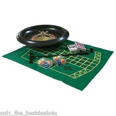 SHINE Glanz komplett Party Roulette Set 6/10/16Massive inkl. Filz Rechen Chips Kugeln [10Rad]