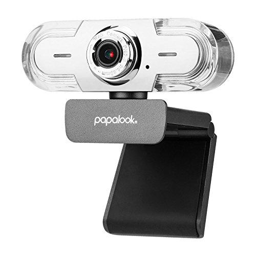 papalook Webcam 1080p/30fps, PA452 Pro Full-HD-Videostream-Webkamera mit Mikrofon, Manuellem Fokus und 90°...