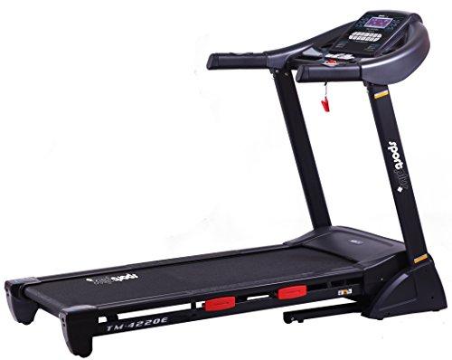 SportPlus Profi Laufband bis 20km/h, 16% Steigung elektrisch, 2,5 PS leiser Motor, 24 Trainingsprogramme, APP,...