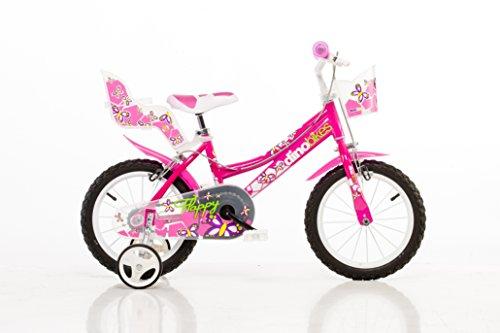 Mädchen Kinderfahrrad pink Mädchenfahrrad – 16 Zoll   Original   Kinderrad mit Stützrädern - Das Fahrrad...