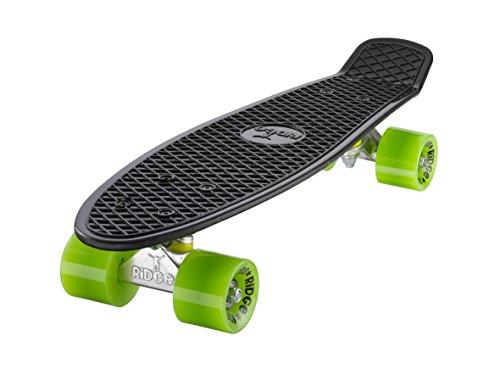 Ridge Skateboard Mini Cruiser, schwarz-grün, 22 Zoll