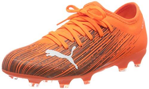 Puma Ultra 3.1 Fg/ag Jr, Unisex-Kinder Fußballschuh, Schockierendes Orange-Puma-Schwarz