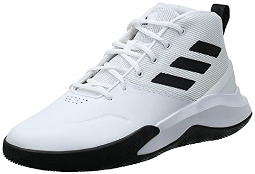 adidas Herren OwnTheGame Basketball Shoe, Cloud White/Core Black/Cloud White, 44 EU
