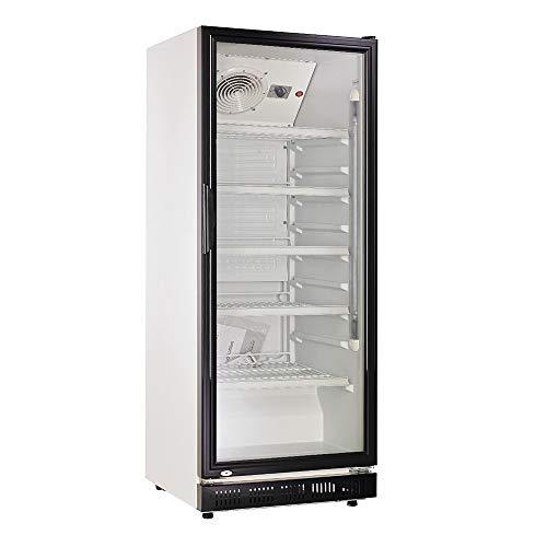 310l Getränkekühlschrank (Flaschenkühlschrank) mit Glastür. Abschließbar. Schwarz-weiß. Freistehender...
