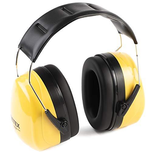 PRETEX Professioneller Kapselgehörschutz mit SNR 98 dB, hoher Tragekomfort, geringes Gewicht, stufenlos...