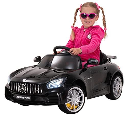 Actionbikes Motors Kinder Elektroauto Mercedes Amg GT-R - lizenziert – 2 x 25 Watt Motor – Ledersitz - Eva...