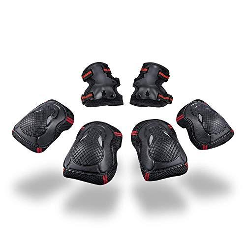 Schutzausrüstung Set für Jugendliche Erwachsene Schoner Set mit Handgelenkschoner Knieschoner...
