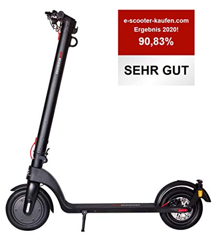 Scoot One E-Scooter E7 - mit Straßenzulassung /ABE, Herausnehmbarer PANASONIC Lithium-Ionen-Akku, 20 km/h,...