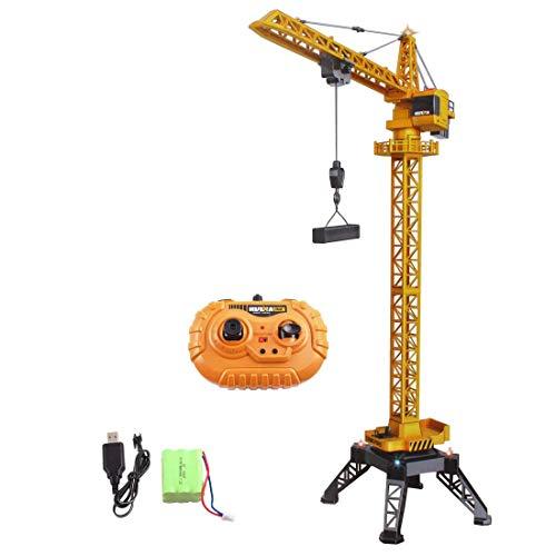 deAO RC Bauturm-Kran, 12 Kanäle, funkgesteuertes Modell, Druckguss, unbegrenzte Rotation, Lichter und...