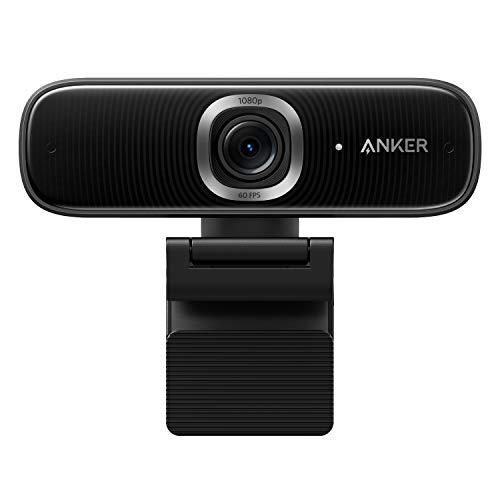 Anker PowerConf C300 Smart Full HD Webcam, mit AI Autofokus & Bildeinstellungen, 1080p Webcam, Mikrofone mit...