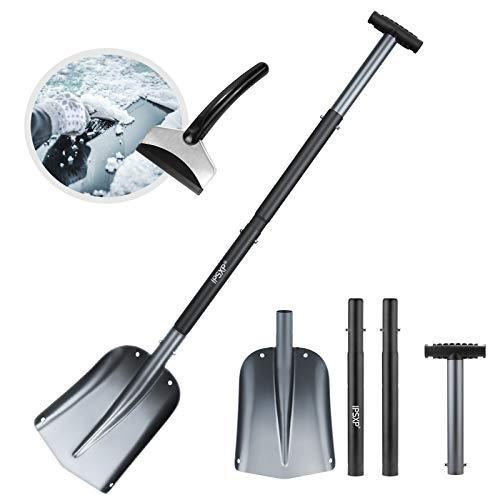 IPSXP Schneeschaufel, Aluminiumlegierung Leichte Schneeschaufel für Auto, Camping und andere...