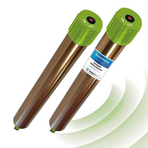 ISOTRONIC Maulwurfabwehr Vibrasonic mit ON/Off Schalter 2er Set NEU mit Vibrationsmotor batteriebetrieben...