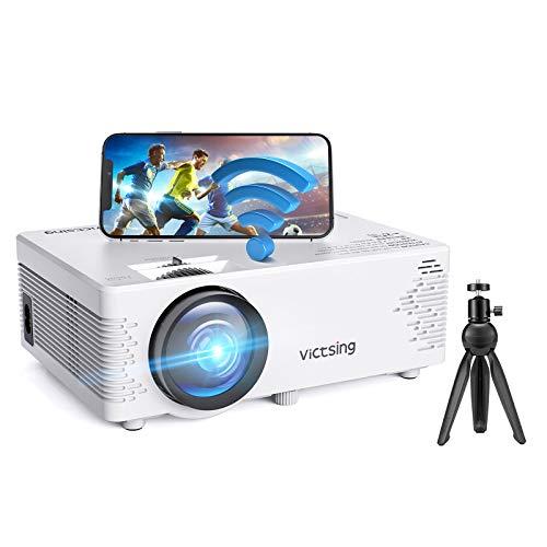 Mini Beamer, VicTsing WiFi Beamer Full HD mit Bluetooth, 4500 Lumen 1080P, Handy Projektor, kompatibel mit...