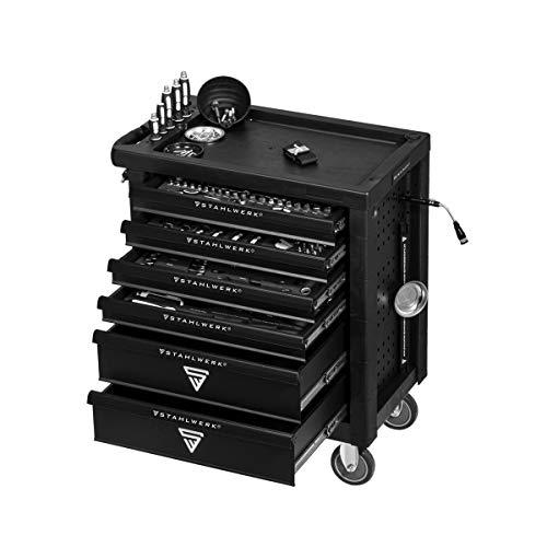 STAHLWERK Werkstattwagen Chrom Vanadium W-64 ST Werkzeugwagen Werkzeugkoffer Montagewagen mit 6 Schubladen...