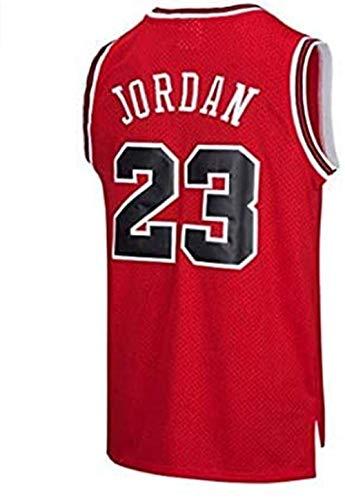 BeKing NBA Jersey Michael Jordan # 23 Chicago Bulls Basketballtrikot Herren Retro Weste Gym T-Shirt Sport,...