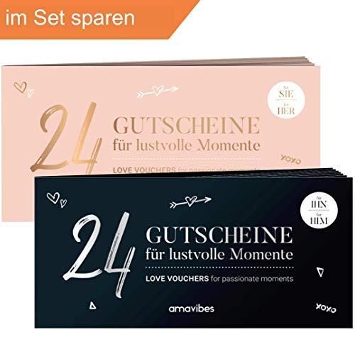 Spar-Set: Premium Liebes-Gutschein-Hefte im Doppelpack - perfekt zum Valentinstag √ 2x24 als Geschenk-Idee...
