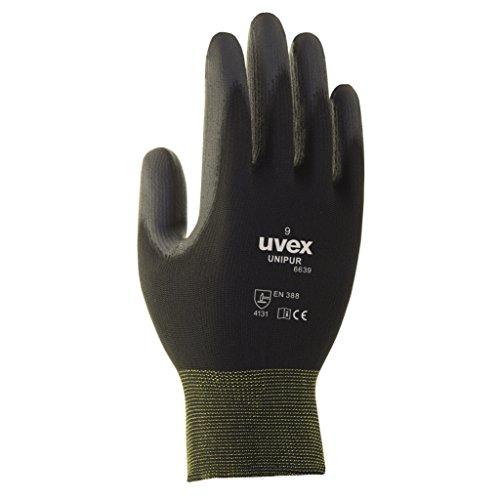 10 Paar uvex Unipur 6639 Arbeitshandschuhe mit PU Beschichtung - Schutzhandschuhe gegen mechanische Risiken EN...