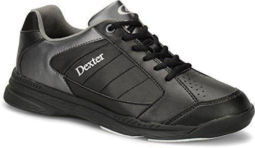 DEXTER Ricky IV Bowling Schuhe für Einsteiger und Profis Größe 38-47 Schwarz/Alloy Größe 44,5
