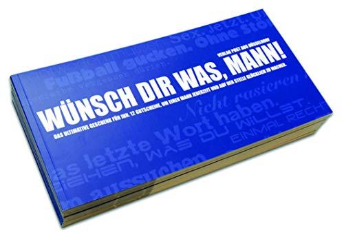 Gutscheinbuch für Männer | WÜNSCH' DIR WAS, MANN! - 12 perforierte Postkarten zum Raustrennen