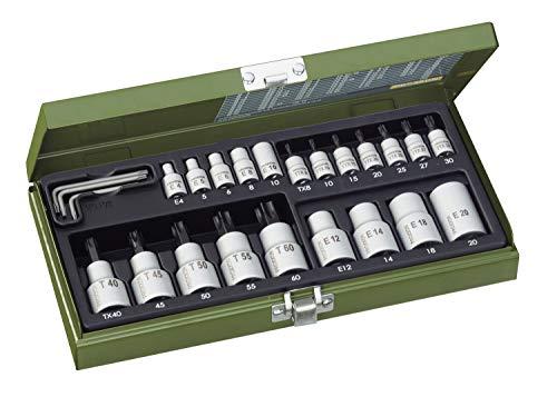PROXXON Spezialsatz für TX-Steckschlüssel, Innen- und Außen-TX für 1/4'-Antrieb und 1/2'-Antrieb,...