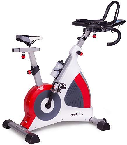 SportPlus Speedracer, TÜV-geprüft, Indoor Cycling Bike in Studioqualität, 50 Widerstandsstufen,...