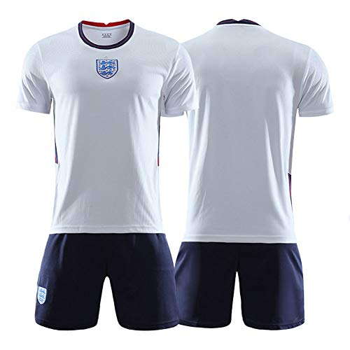 20-21 England Fußball Trikot Set - Herren Kurzarm T-Shirt Jugend und Kinder Fußball Training Team Trikot...