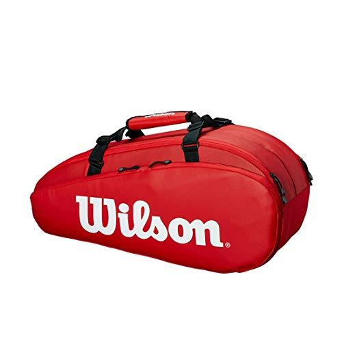 Wilson Unisex Tennistasche Tour 2 Comp, rot, small, für bis zu 6 Schläger, WRZ847909