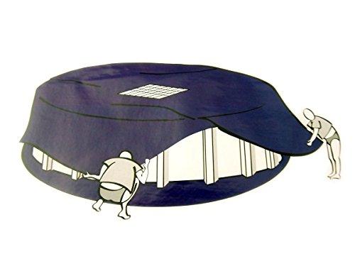 Abdeckplane mit Ablaufnetz für Pool Ø5-5,5m Poolabdeckplane Poolabdeckung Plane