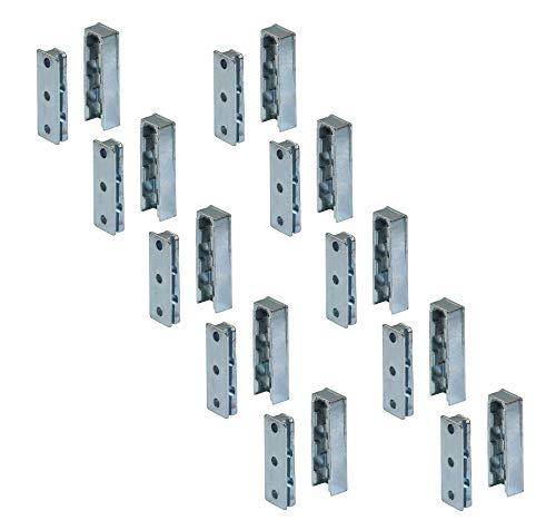 Gedotec Bett-Beschlag Schwerlast Möbelverbinder Metall SOLID Einhängebeschlag unsichtbar aus Stahl |...