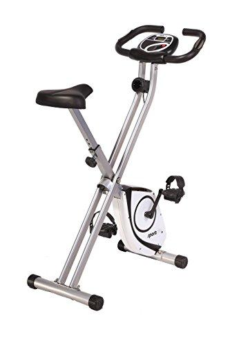 SportPlus Heimtrainer klappbar - X-Bike mit 8 Widerstandsstufen (Magnetbremssystem), mit Tablethalterung &...