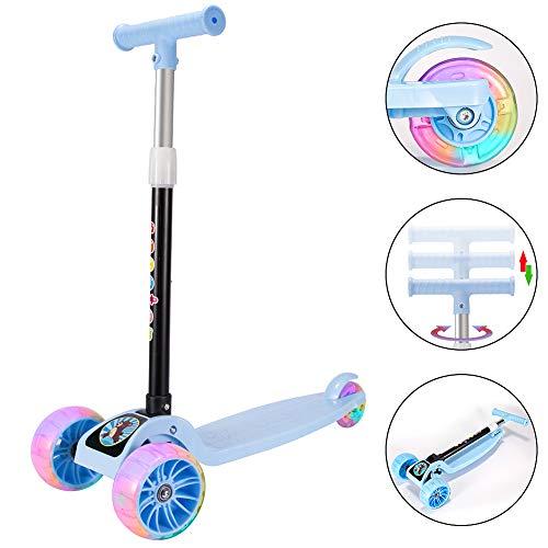 Youfen Kinder Roller Scooter - Kinderscooter Mädchen Jungen 3 bis 12 Jahren,Premium Blinkenden LED Räder...