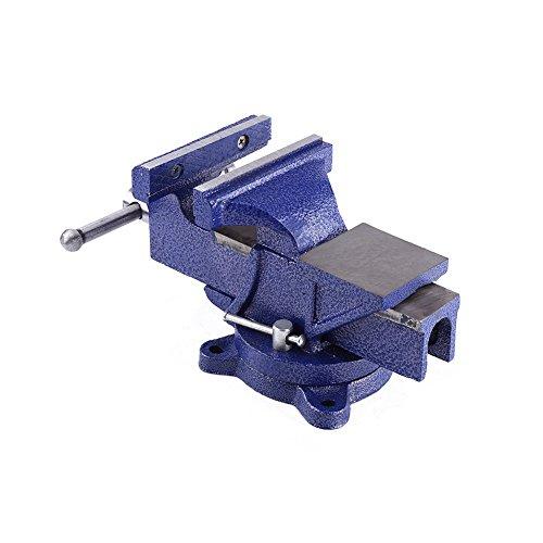 Strapazierfähiger Tischschraubstock mit Drehgelenk für Werkbank, 150 mm 12 kg Universal-Tisch-Schraubstock...