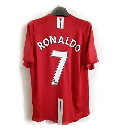 Retro 07-08 Saison Cristiano Ronaldo Trikot Champions League Premier League Langarm Kurzarm Fußball Anzug...