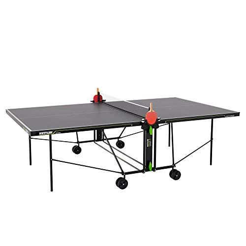 Kettler K1 Indoor, Tischtennisplatte, Turniermaße, robuste 16mm Feinspanplatte, Farbe grau, wetterfest,...