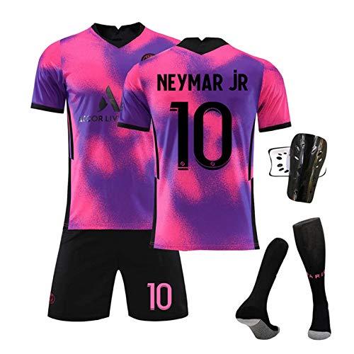 GJMYQ Trikot 4-teiliges Set Nr. 7 Mbappé 10# Neymar 11# Di Maria 20-21 Unisex-T-Shirt-Set der Champions...