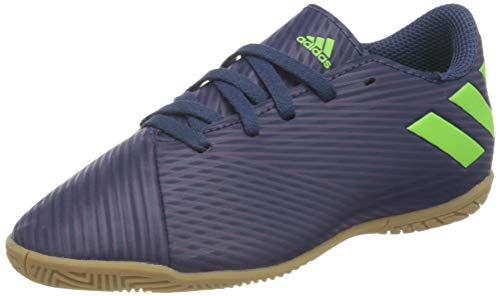 adidas Unisex Kinder Ef1817_38 2/3 indoor football trainers, Lila Tech Indigo Signal Green Glory Purple, 38 2...