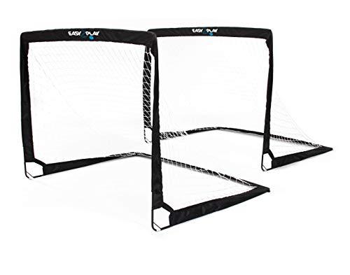 2er Set klappbare Fußballtore - von EASY2PLAY - Pop up Goal - Faltbares Tor je 120 x 90 x 90 cm - 3 Jahre...