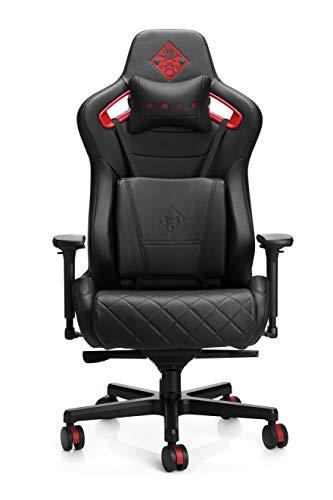 OMEN Citadel Gaming Stuhl (Bürostuhl, Schreibtischstuhl, höhenverstellbar, Lendenkissen, Kopfkissen, 4D...