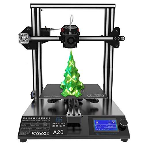 GIANTARM Neuer Geeetech A20 3D. Drucker mit Großem Druckraum: 255 * 255 * 255mm und Power Failure Recovery,...